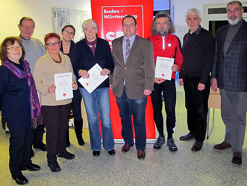 SPD Mosbach ehrt Genossen