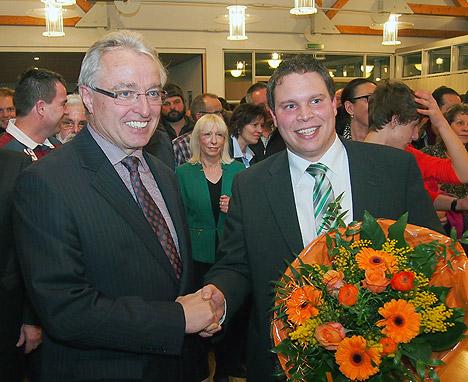 Schoelch gratuliert Haas