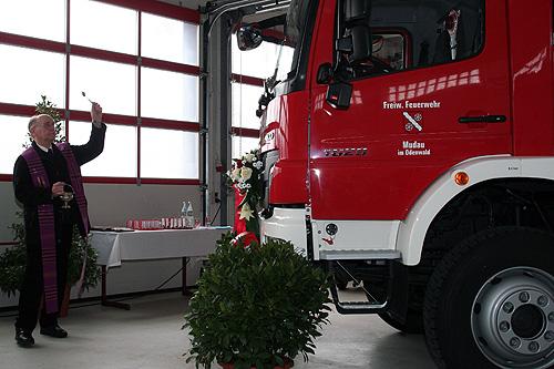 Segnung Feuerwehrauto