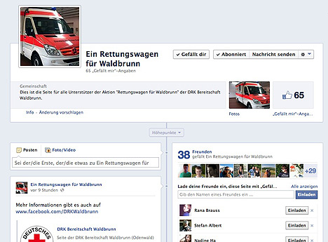 DRK Rettungswagen fuer WB