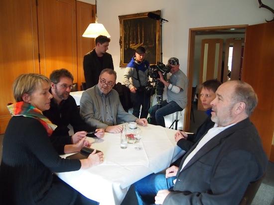 Dreharbeiten Dokumentation Waffengesetz Feb 2014