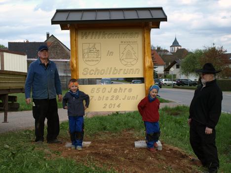 467Vorbereitungen 650 Jahre Schollbrunn