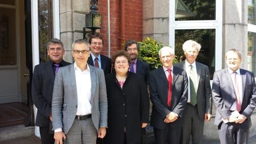 2014 06 17 Irland Delegation Dt Botschaft mit Professoren