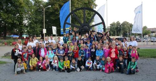 Gruppenfoto Salzbergwerk klein