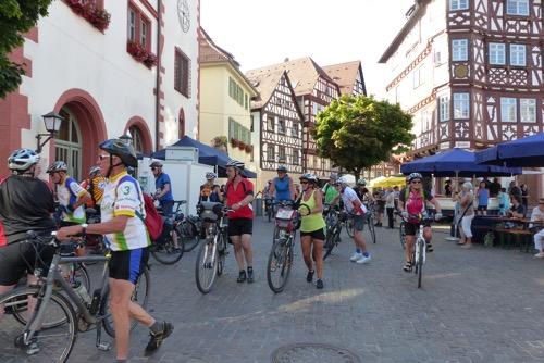 3 Länder Rad Event 2015 Ankunft in Mosbach