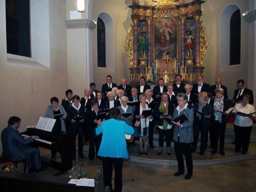 25 10 15 Katholischer Kirchenchor Waldbrunn Annedore Mueller