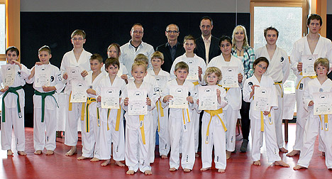 468Taekwondo Pruefung in Seckach