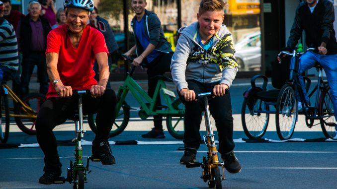 Teilnehmer des Gaudiradrennens
