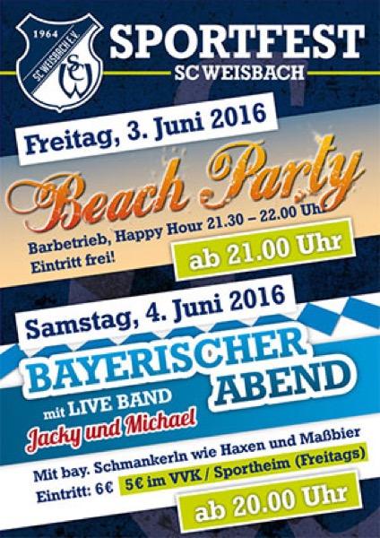 Plakat Sportfest SCW 2016