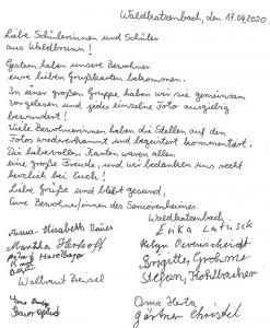 KP-Dankesbrief Seniorenheim