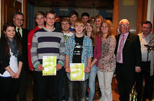 Musikverein Seckach ehrt Mitglieder