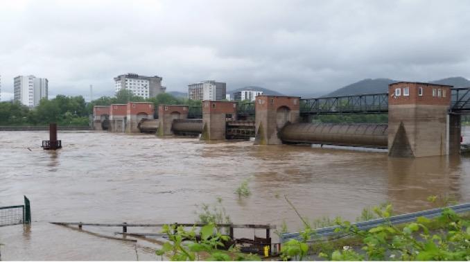 Hochwasser Neckar